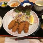 花あかり - 料理写真:とろろ付き牡蠣フライ御膳