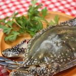 """手づかみシーフード Makky's The Boiling Shrimp - 今が旬のトッピング""""ワタリガニ"""""""
