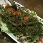 43988103 - 海ぶどうと水菜のハリハリサラダ:780円