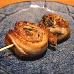 舌心 - 豚肉の青紫蘇包み串 (2015/10)