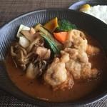 スープカレーlavi  - 料理写真:とり天きのこto野菜カレー