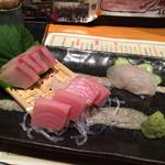 大阪産(もん)料理 空 - お造り盛り合わせ❤︎