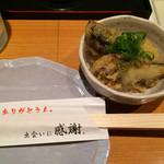 大阪産(もん)料理 空 - つきだしの秋刀魚天婦羅めっちゃ美味しい〜♪