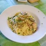 イル・トゥルッロ - グリル野菜とパンチェッタのカルボナーラ