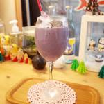 43993717 - バナナブルーベリー豆乳黒ゴマの紫のジュース(470円)