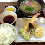 おかめ - 天ぷらうどん定食