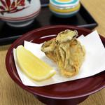 銀座 天一 - 「牡蠣」。季節限定でのご提供です。