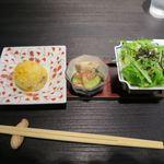 風雅すたいる カフェ - 小鉢3種_2015/10