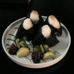 箱根桜庵 - 夜食のおにぎり