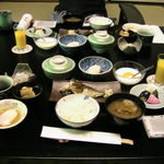 箱根桜庵 - 朝食全景