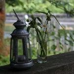 パインズ ランチョネット - ランプとお花