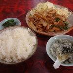 手打ラーメン長来 - 生姜焼き定食(\850)