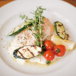 CAFE246 - TABETABImarket限定メニュー、地鶏胸肉のフォンダン