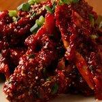 韓国家庭料理 大久保刺身 ジュンイネ - おばちゃんが作ってくれた味付けケジャン♪新鮮でした^^