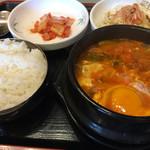 鶴橋ポジャンマチャ - チゲ定食