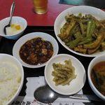 海老専家 - 豚肉と厚揚げセロリ炒め_2015/10