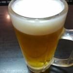 平和園 - 久々の生ビール