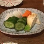 旬の味 菜々せ - 御新香の盛り合わせ
