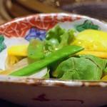 鉄板 かや乃 - 季節のサラダ
