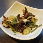 44008302 - 山菜水煮:みず、わらび、筍、ぜんまい、キクラゲ。
