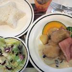 スタジオ・スターズ・レストラン - チキンのオーブン焼きセット1690円♪星型のライスが可愛い♪