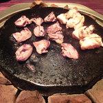4401632 - ハート&もも肉@気まぐれ鶏の7種盛り合わせ