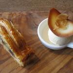 パルゴロ - デザート 栗のパイ、自家製バニラアイス