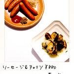WINE&DINING ポルコロッソ - あさりの白ワイン蒸し580円 あさりの旨みギッシリ!思わず汁まで飲み干したくなる!