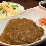 香希 - チキンカレー(サラダ・コーヒー):850円/2015年11月