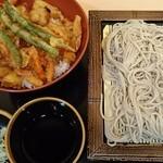 そば処 ことぶき - ばら天丼セット570円(税込)