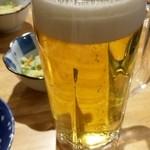 味の羊ヶ丘 - 生ビールは欠かせない