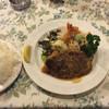 グリルやまもと - 料理写真:海老フライセット ハンバーグ