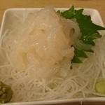 いくら(海蔵)ちゃん - 白海老の刺身