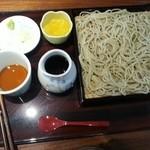 44032431 - せいろ蕎麦(¥650)                       天婦羅とセットなのでデザートのゼリー付