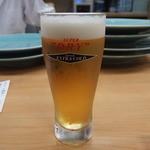 割烹 美さわ - 生ビールから