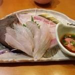 ぎょギョ魚の三太郎 - カワハギの刺身 肝をポン酢でといてどーぞ(* ´ ▽ ` *)