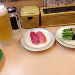 回転寿司 すし丸 - 赤身まぐろと芽ネギ