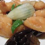 中華料理 谷記 - 料理はぼたんエビとカキソース炒め(単品価格736円)を選択