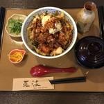 天ぷら 兎波 - かき揚げ味噌天丼