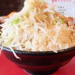 麺や 唯桜 - ラーメン中+ヤサイチョイ増し半分ニンニク