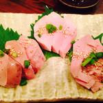肉刺し・串焼き げん - 真空刺し三種盛り
