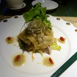 Haihaitenzankaku - 蒸し鶏の葱ソース