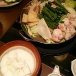 44046614 - 山芋の牛モツ鍋!