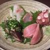 うおはな - 料理写真:刺し盛り 大間の本鮪、鰹、鯛、蛸、勘八
