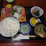 花ふじ - お刺身定食¥1200+税
