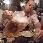 宮崎県日南市 塚田農場 - 飲み放題のビールはピッチャーです