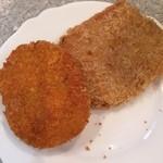 旭食肉共同組合直売所 - 野菜コロッケとハムカツ