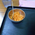 道蕎麦 - あげ玉に辛み調味料を和えたもの