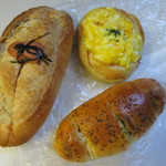 パン工房 四ッ葉のクローバー - 料理写真:この中からいつもの様にパンを3種類選んでみました。