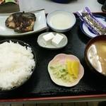 めしる - 朝のサービスメニュー、魚定食500円